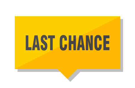 last chance yellow square price tag