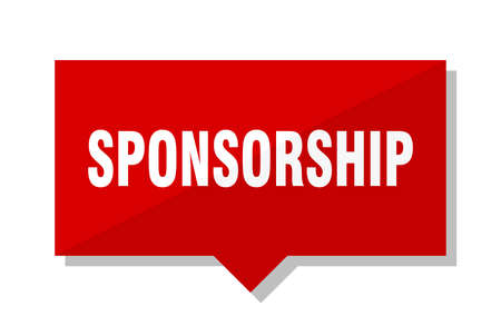 sponsorship red square price tag Illustration