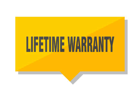 lifetime warranty yellow square price tag