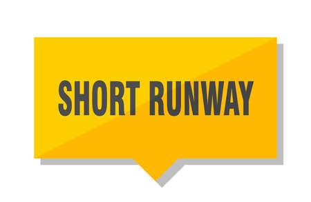 short runway yellow square price tag