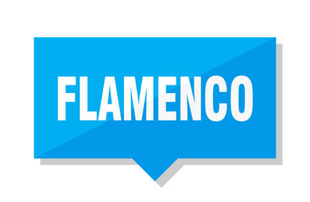 flamenco blue square price tag