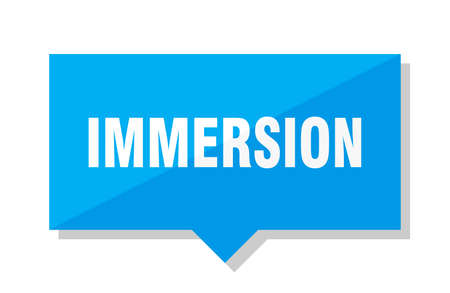 immersion blue square price tag