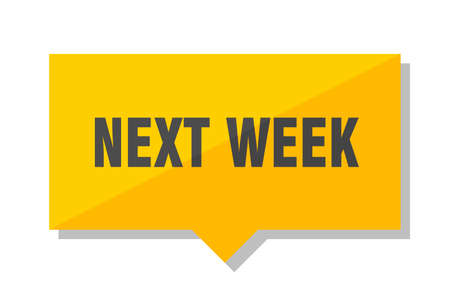 next week yellow square price tag
