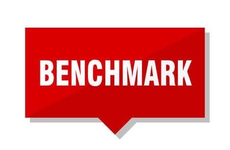 Benchmark Red Square Preisschild Vektorgrafik