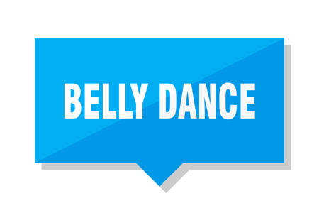 belly dance blue square price tag
