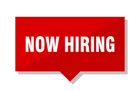 now hiring red square price tag