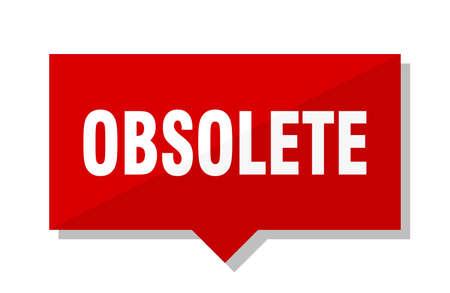 obsolete red square price tag Ilustrace