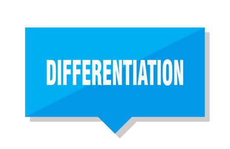 differentiation blue square price tag 일러스트