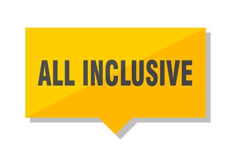 all inclusive yellow square price tag