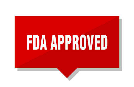 fda approved red square price tag Illustration