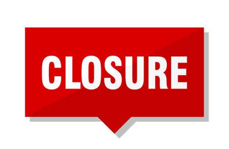 closure red square price tag Ilustração