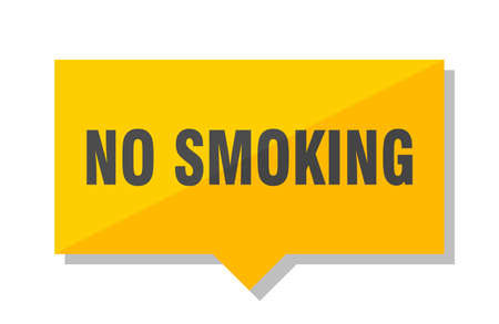 no smoking yellow square price tag