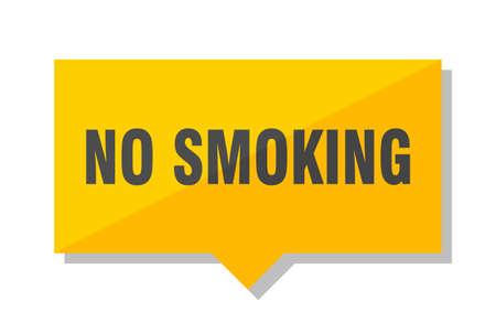 no smoking yellow square price tag