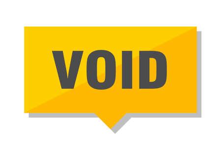 void yellow square price tag Illustration