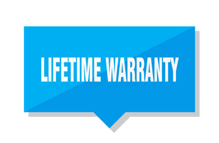 lifetime warranty blue square price tag