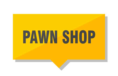 pawn shop yellow square price tag