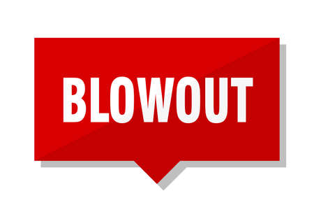 blowout red square price tag