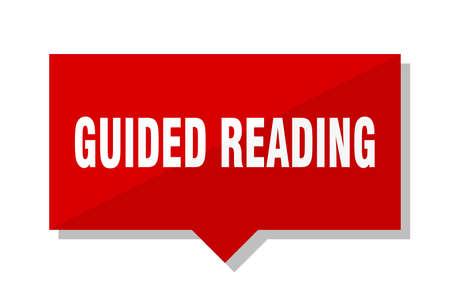 guided reading red square price tag Illusztráció