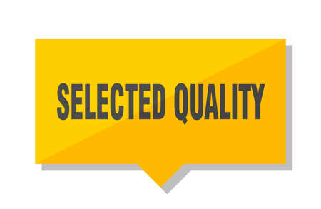 selected quality yellow square price tag Illustration