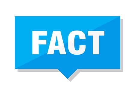 fact blue square price tag