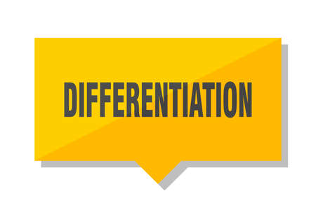 differentiation yellow square price tag Illustration