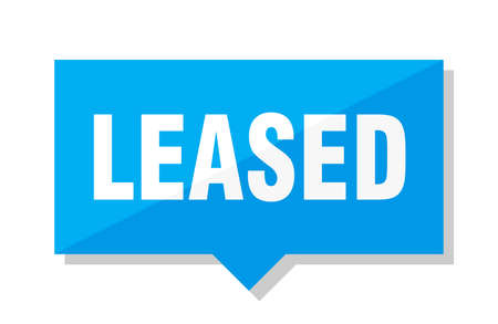 leased blue square price tag