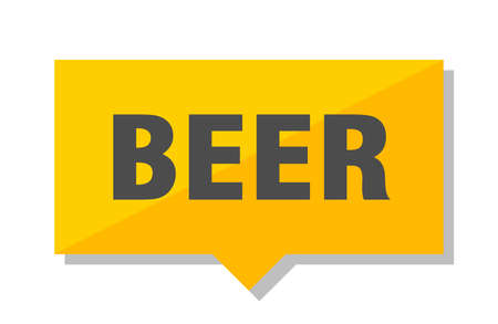 beer yellow square price tag Vectores