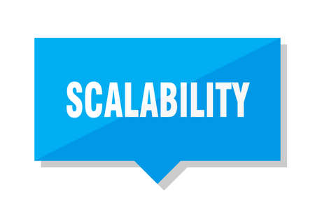 scalability blue square price tag