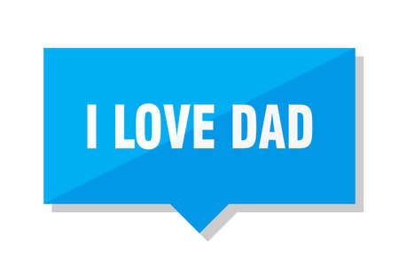 i love dad blue square price tag