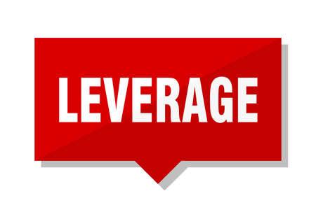 leverage red square price tag Illustration