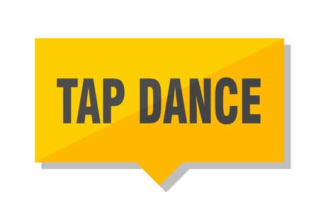 tap dance yellow square price tag Illustration