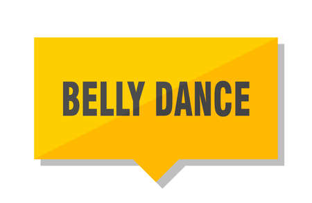 belly dance yellow square price tag Stock Illustratie