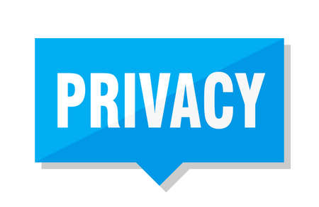 privacy blue square price tag