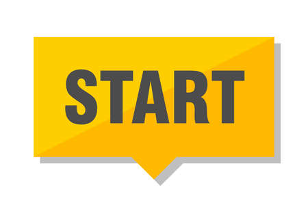 start yellow square price tag