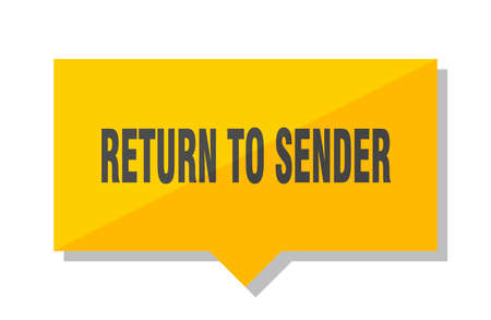 return to sender yellow square price tag