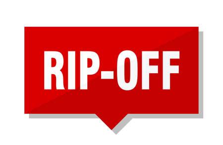 rip-off red square price tag Vettoriali