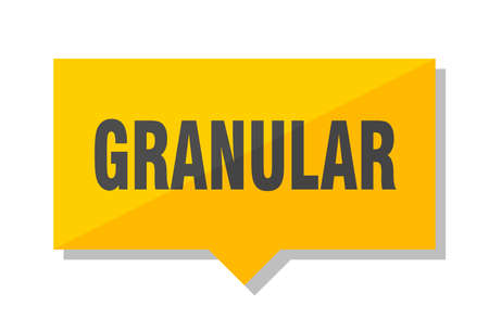 granular yellow square price tag
