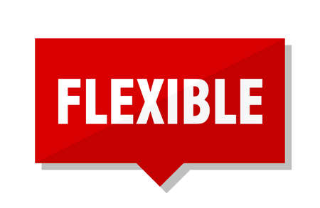 flexible red square price tag Illustration
