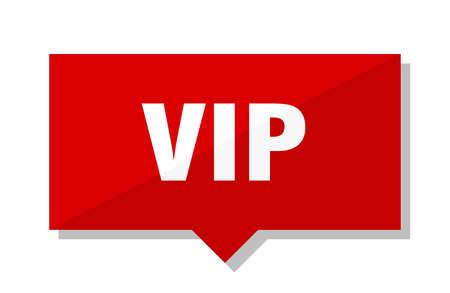 vip red square price tag Illustration