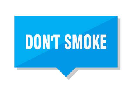 dont smoke blue square price tag Stock Illustratie