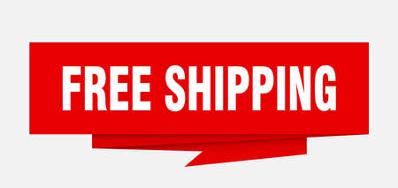 Free shipping sign.