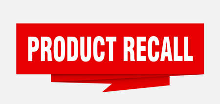 product recall sign. product recall paper origami speech bubble. product recall tag. product recall banner