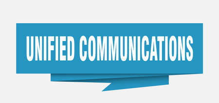 unified communications sign. unified communications paper origami speech bubble. unified communications tag. unified communications banner Çizim