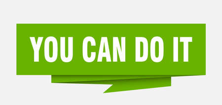 you can do it sign. you can do it paper origami speech bubble. you can do it tag. you can do it banner Vektorové ilustrace