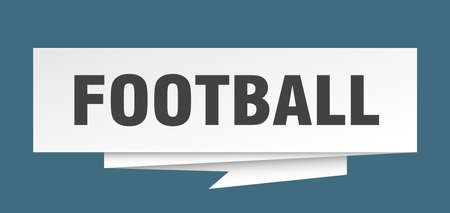 football sign. football paper origami speech bubble. football tag. football banner