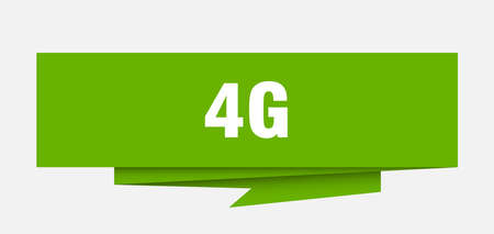 4g sign. 4g paper origami speech bubble. 4g tag. 4g banner