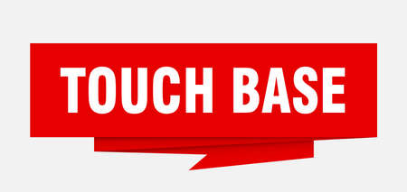 touch base sign. touch base paper origami speech bubble. touch base tag. touch base banner Иллюстрация