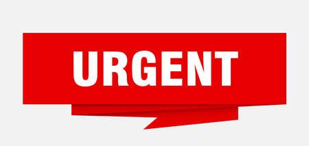urgent sign. urgent paper origami speech bubble. urgent tag. urgent banner