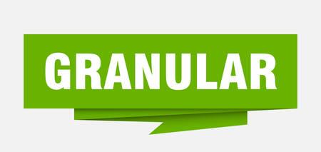 granular sign. granular paper origami speech bubble. granular tag. granular banner