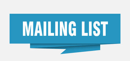 mailing list sign. mailing list paper origami speech bubble. mailing list tag. mailing list banner Vectores